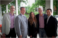 Pictured, from left to right: John Virant, Mayor Karl Dean, Carlene Carter, Steve Smith, and Glen Barros. Photo Credit: Stacie Huckeba